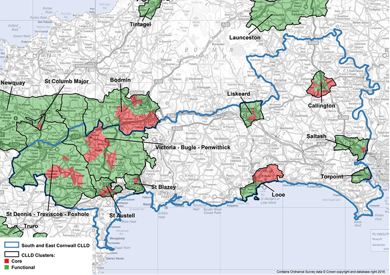 South & East Cornwall CLLD Geographic Area