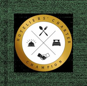 Hotelier's Charter Logo Champion Logo